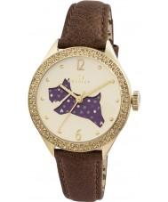 Radley RY2210 Dámy hnědý kožený pásek hodinky s kamínky