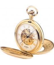 Rotary MP00713-01 Pánská mechanická kostra pozlacené kapesní hodinky