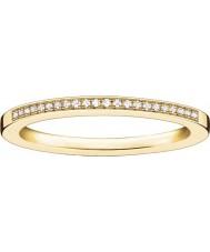Thomas Sabo Dámské glam a duše žlutý zlatý diamantový prsten