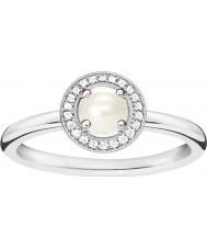 Thomas Sabo Dámy glam a duše stříbrný diamantový prsten