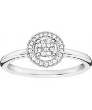 Thomas Sabo D-TR0008-725-14-54 Dámy glam a duše 925 mincovní stříbro diamantový prsten - velikost Ø (EU 54)