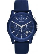 Armani Exchange AX1327 Sport modré silikonové hodinky chronograf
