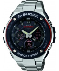 Casio GST-W100D-1A4ER Pánská g-shock rádio ovládat na solární energii stříbrné hodinky
