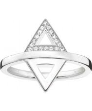 Thomas Sabo D-TR0019-725-14-54 Dámy glam a duše 925 mincovní stříbro diamantový prsten - velikost Ø (EU 54)