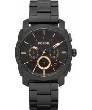 Fossil FS4682 Pánská stroj černá ocel chronograf hodinky