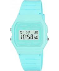 Casio F-91WC-2AEF Pánská kolekce retro pastelově modrá chronograf hodinky