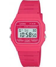 Casio F-91WC-4AEF Pánská kolekce retro pink chronograf hodinky