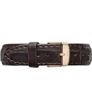 Daniel Wellington DW00200038 Dámy klasický York 36mm růžové zlato tmavě hnědý kožený řemínek rezervní