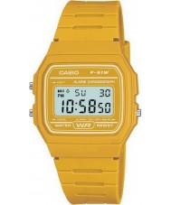 Casio F-91WC-9AEF Pánská kolekce retro žluté chronograf hodinky