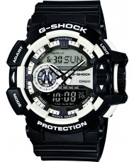 Casio GA-400-1AER Pánská g-shock bílá černá chronograf hodinky