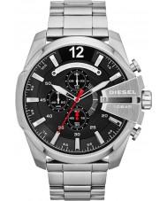 Diesel DZ4308 Pánská mega šéf černá ocel chronograf hodinky