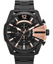 Diesel DZ4309 Pánská mega šéf černá ip chronograf hodinky