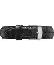 Daniel Wellington DW00200133 Dapper 17mm čtení stříbro náhradní popruh