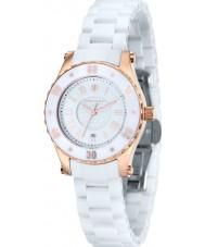 Klaus Kobec KK-10016-01 Dámská aurora růžové zlato a bílé keramické hodinky