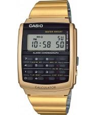 Casio CA-506G-9AEF kolekce pánské zlato tón kalkulačka hodinky