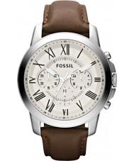 Fossil FS4735 Pánská udělit hnědé chronograf hodinky