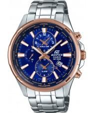 Casio EFR-304PG-2AVUEF Pánská budova světový čas stříbro ocelářský hodinky