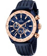 Festina F16897-1 Pánská prestiž modrá kůže chronograf hodinky