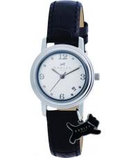 Radley RY2007 Dámy šarm černý kožený řemínek hodinky