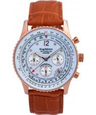 Krug-Baumen 400701DS Pánská vzduchu cestovatel opálení kožený řemínek hodinky