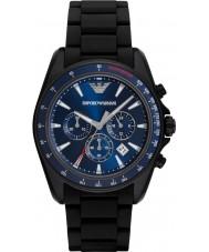 Emporio Armani AR6121 Pánská sportovní černé smíšené popruh hodinky