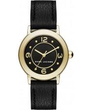 Marc Jacobs MJ1475 Dámy Riley černý kožený řemínek hodinky
