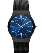 Skagen T233XLTMN Pánská Aktiv modré a černé titanové hodinky