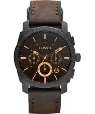 Fossil FS4656 Pánská stroj hnědá kůže chronograf hodinky