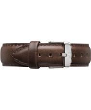 Daniel Wellington DW00200023 Pánské klasické Bristol 40 mm stříbrná hnědá kůže rezervní popruh