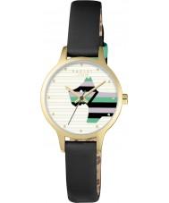 Radley RY2406 Dámská vrba černý kožený řemínek hodinky