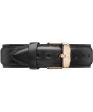 Daniel Wellington DW00200007 Pánská klasický 40mm Sheffield růžové zlato černý kožený řemínek rezervní