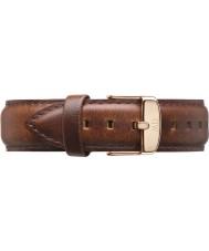 Daniel Wellington DW00200006 Pánská klasický 40mm st Mawes Rose Gold Světle hnědá kůže rezervní popruh