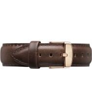 Daniel Wellington DW00200009 Pánské klasické Bristol 40mm růžové zlato hnědý kožený řemínek rezervní
