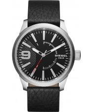 Diesel DZ1766 Pánská rašple černý kožený řemínek hodinky