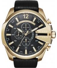 Diesel DZ4344 Pánská mega šéf zlato černý chronograf hodinky