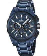 Festina F16973-1 Pánské Chrono kolo Blue Steel chronograf hodinky