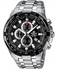 Casio EF-539D-1AVEF Pánská budova černá stříbrná chronograf hodinky