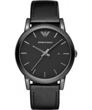 Emporio Armani AR1732 Pánské klasické černé barvě kožený řemínek hodinky