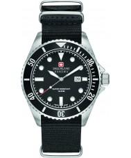Swiss Military 6-4279-04-007-07 Pánská lachtan černý nylon popruh hodinky