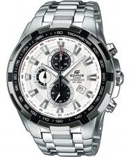Casio EF-539D-7AVEF Pánská budova bílá stříbrná chronograf hodinky