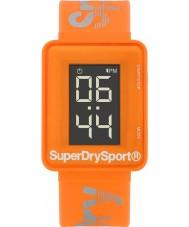 Superdry SYG204O Pánské sprint digi oranžová silikonový pásek hodinky