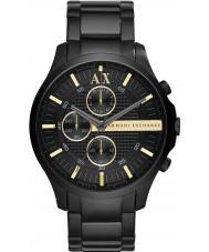 Armani Exchange AX2164 Pánská všechny černé šaty hodinky chronograf