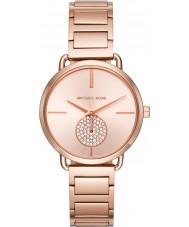 Michael Kors MK3640 Dámská portia růžové zlato pokovené náramek hodinky