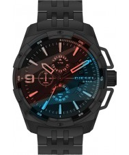 Diesel DZ4395 Pánská silný černý ocelový chronograf hodinky