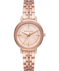 Michael Kors MK3643 Dámská Cinthia růžové zlato pokovené náramek hodinky
