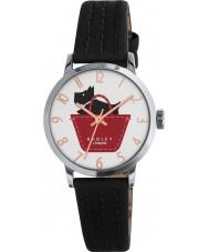 Radley RY2345 Dámy hraniční černý a žlutohnědý kožený pásek na hodinky