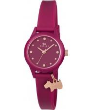 Radley RY2438 Dámské náramkové to rubínově silikonový pásek na hodinky
