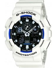 Casio GA-100B-7AER Pánská g-shock světový čas bílá pryskyřice popruh hodinky