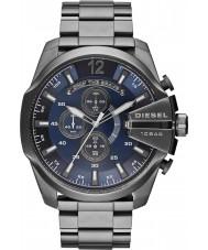 Diesel DZ4329 Pánská mega šéf šedostříbrná oceli chronograf hodinky
