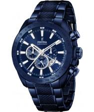 Festina F16887-1 Pánská prestiž Blue Steel chronograf hodinky